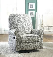 amazing beautiful swivel glider recliner chair gray ashewick