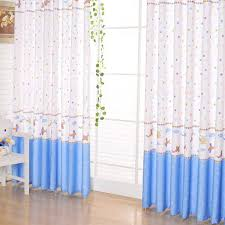 airplane and stars printed cotton curtains for kids buy blue
