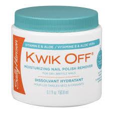sally hansen kwik off moisturizing nail polish remover dissolvant