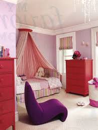 bedroom dazzling red drawers cabinet and single bed with pink