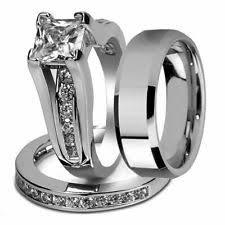 Wedding Rings Diamond by Diamond Stainless Steel Rings For Men Ebay