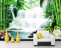 compare prices on forest wallpaper bedroom online shopping buy beibehang custom wallpaper living room bedroom murals bamboo forest springs waterfalls lotus flower tv backdrop 3d