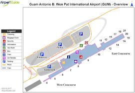 Map Of International Airports Agana Guam International Gum Airport Terminal Maps