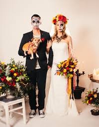 day of the dead wedding day of the dead inspiration shoot modern