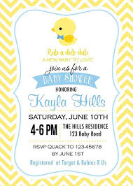 rubber duckie baby shower ba shower invitation cards rubber duck ba shower invitation rubber