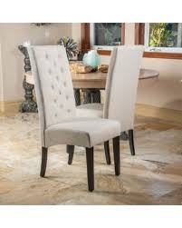 Tufted Dining Chair Set Don T Miss This Deal Back Fabric Dining Chair Set