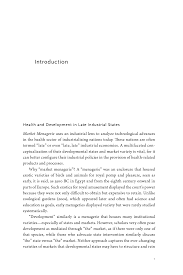 market menagerie health and development in late industrial states