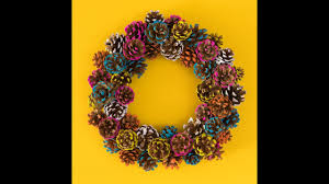 pinecone wreath fall diy pinecone wreath