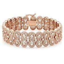 gold bracelet diamonds images Rose gold plated bracelet and simulated diamonds by swarovski jpg