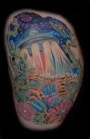 alien ufo landing on earth tattoo tattoos book