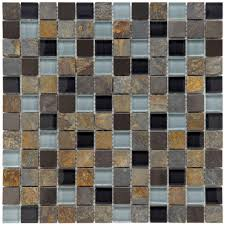merola tile cathedral alloy charcoal 12 in x 12 in x 8 mm glass
