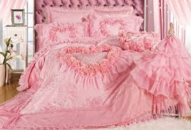 Roses Bedding Sets Luxury Pink Lace Bedding Sets Modern Wedding