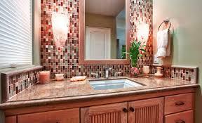 Epic Mosaic Tile Backsplash Bathroom  For Home Design Ideas With - Tile backsplash bathroom