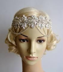 flapper headband rhinestone flapper gatsby headband chain 1920s wedding