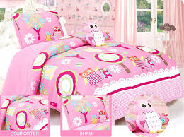 Bedding Sets For Girls Print by Kids Owl Bedding Sets Pink And Multi Color Kids Girls Nature Night