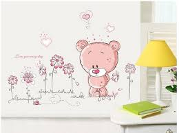 cartoon cute animal princess room decoration wall stickers merry