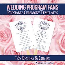 easy wedding programs 55 best wedding program fans diy printable templates images on