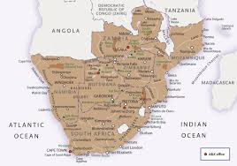 Botswana Map Introduction To Botswana
