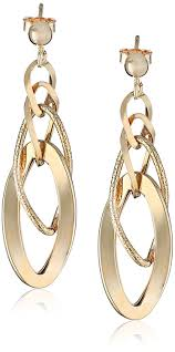 dyadema earrings 14k yellow gold italian polished and textured dangle