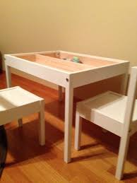 Ikea Kids Table by Latt Compartment And Reversible Table Top Hack Ikea Hackers