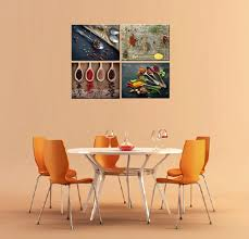 modern kitchen canvas art canvas prints for kitchen wall decor 4 piece set spice and spoon