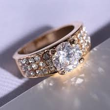 rings with crystal images Women wedding rings crystal ring beautiful gold ring for brides jpg
