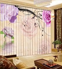 online get cheap purple curtains flower aliexpress com alibaba