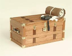 antique style oak wood steamer trunk from dutchcrafters amish