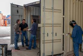 texas company offers shipping container modifications to businesses