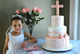 first communion damask cake celebration cakes