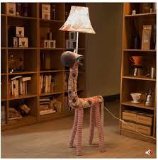 Hand Made Fabric Cartoon Horse Led E27 Floor Lamp Rustic Fashion