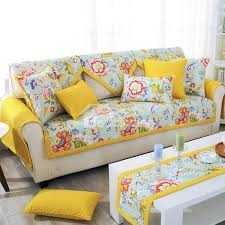 cotton sofa slipcovers slip proof square rectangle polyester and cotton floral print sofa