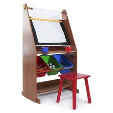 tot tutors focus wood art activity desk and stool set toys