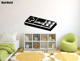 Retro Game Room Decor Mad World Retro Game Gaming Nintendo Geek Wall Art Stickers Wall