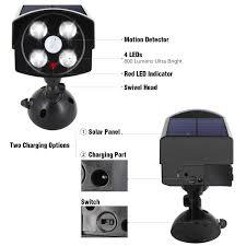 front door security light camera innogear usb solar powered motion sensor lights dummy camera outdoor