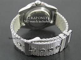 mesh steel bracelet images Superior steel shark mesh bracelet strap for rolex submariner jpg