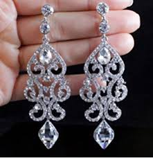 rhinestone earrings chandelier rhinestone earrings bridal drop womens