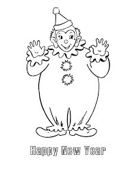 new year u0027s day coloring pages new year u0027s clown coloring