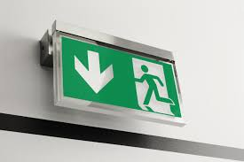 Encompass Lighting Group Stainless Steel Emergency Exit Lighting By Exii Architectural