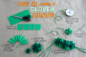 diy clover crown for st patrick u0027s day u2013 crafted in carhartt