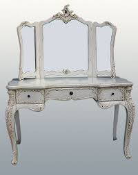 antique white french style large dressing table u0026 mirror