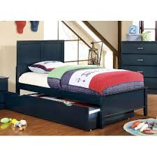 classic navy blue twin size bed prismo rc willey furniture store