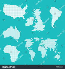 World Continents And Countries Map by World Map Various Countries Continents Vector Stock Vector