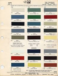 1967 1969 camaro factory paint charts muscle cars pinterest