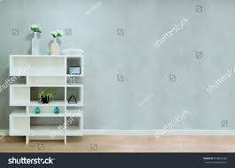 White Bookcase by White Bookcase On Bare Plaster Loft Stock Photo 678816766