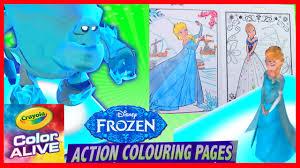 frozen elsa anna olaf come alive in 3d color alive coloring
