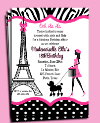 eiffel tower invitations invitation printable or printed with free shipping