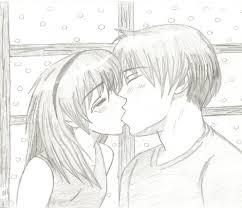 boy and anime kissing sketch by mogwai96 on deviantart