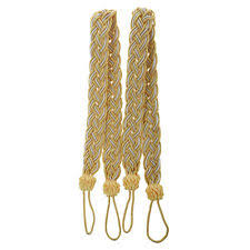 Gold Curtain Tassels Pair Of Curturn Tiebacks Tie Decorative Holdback Cord Drape