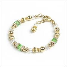 children s bracelets golden sparkle baby and child bracelet with sparkling and cz